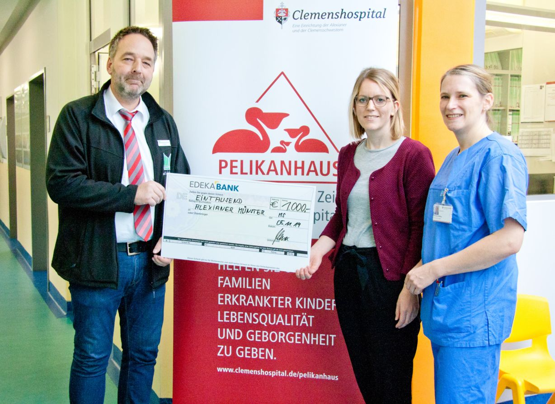 Marktkauf spendet 1000 Euro für das Pelikanhaus